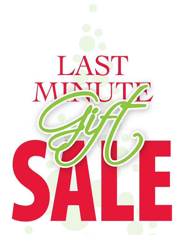 Last Minute Gift Sale Kiosk Sign