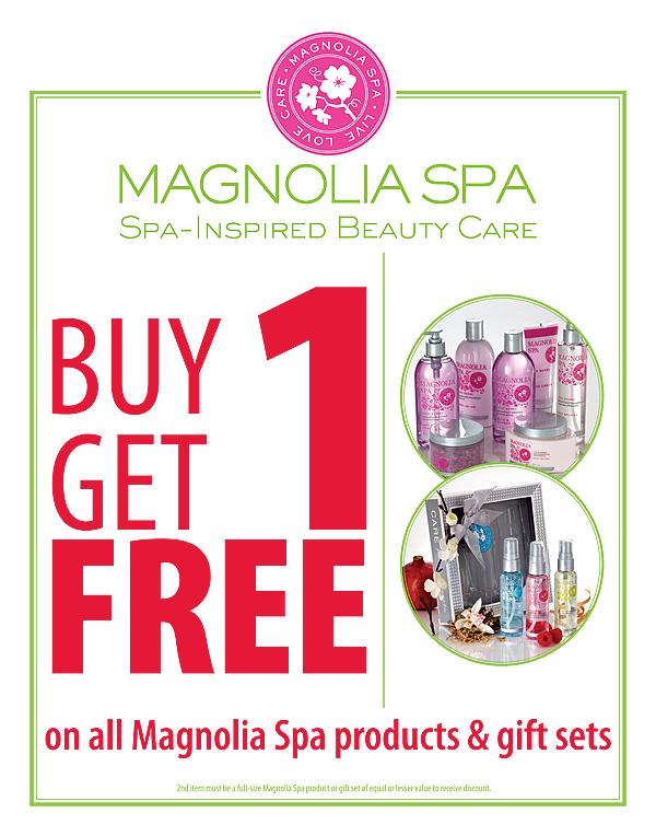 Magnolia Spa Zone Sign