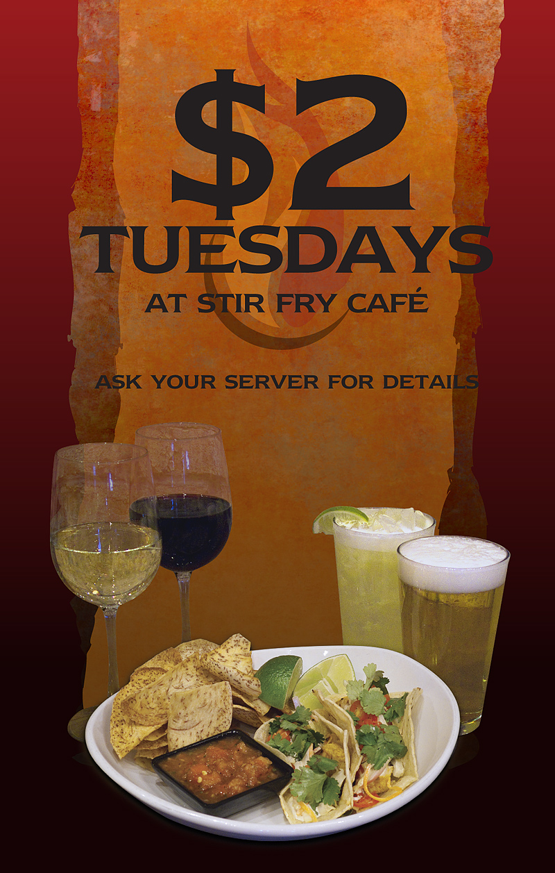 Storefront Window Poster - $2 Tuesday Specials