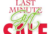 Last Minute Gift Sale Kiosk Sign